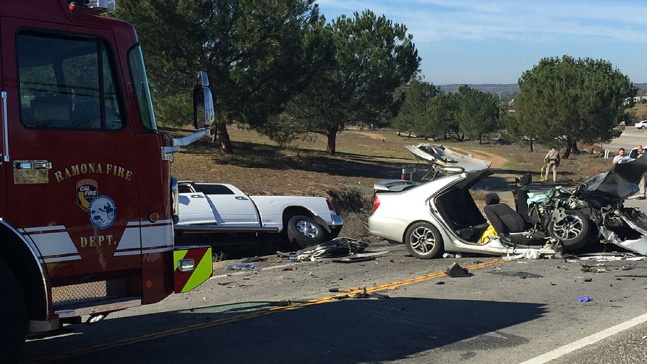 CHP: Child killed in head-on collision on SR-78 in Ramona