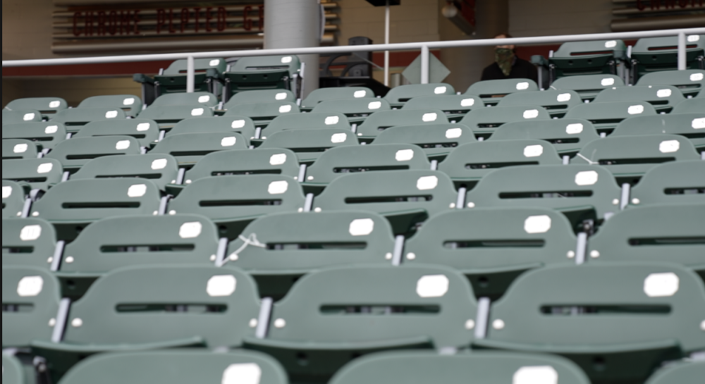Empty seats at the Lansing Lugnuts game