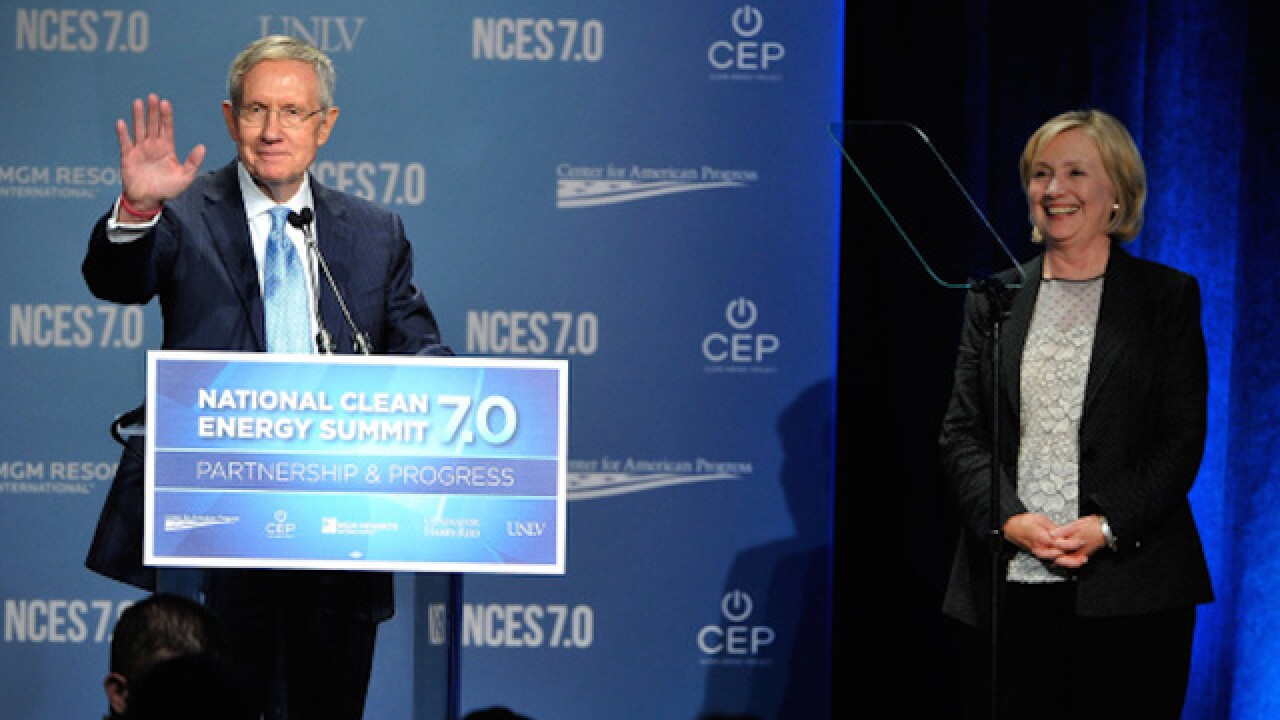 Senator Minority Leader Harry Reid endorses Hillary Clinton