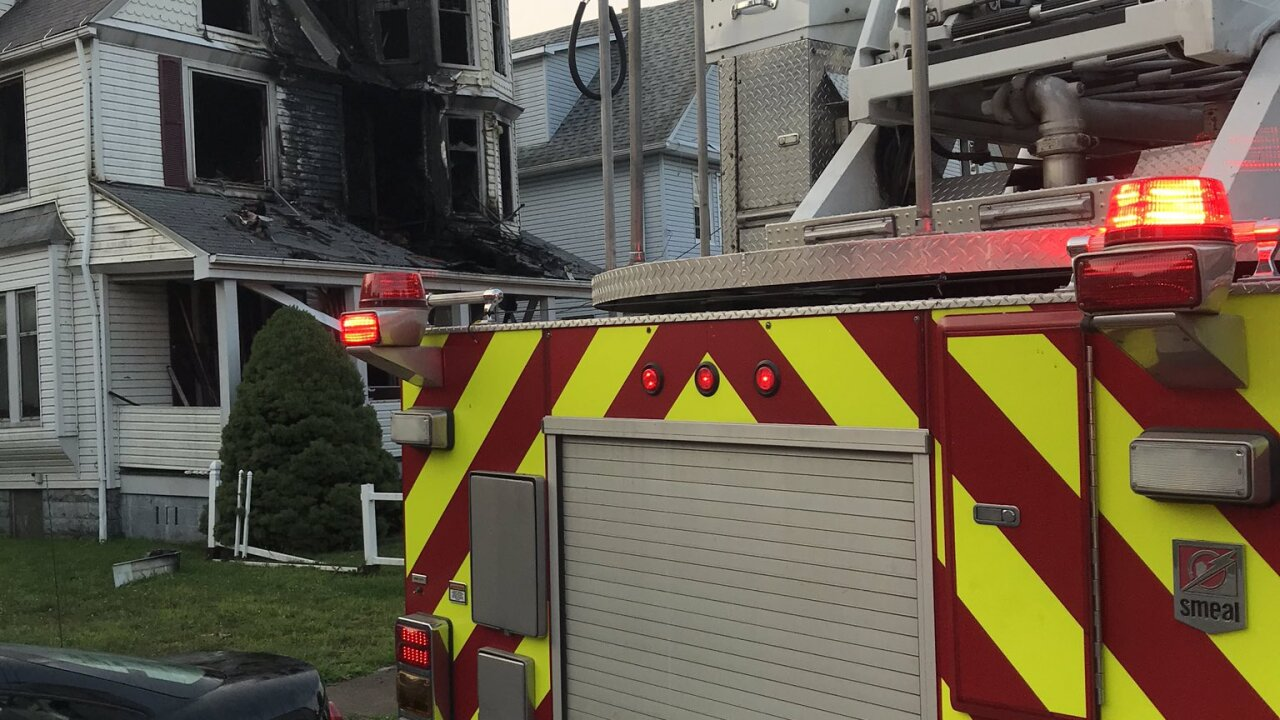 A resident was hospitalized after a house fire on East 95th Street.