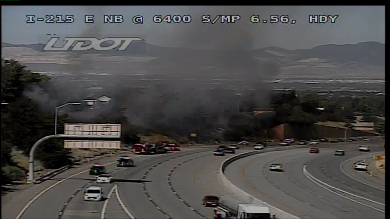 Fire affects I-215 traffic in Holladay;