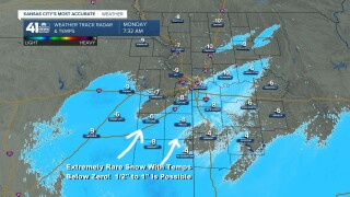 Radar & Temperatures at 7:30 AM