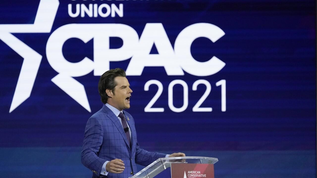 Matt Gaetz speaks at CPAC 2021