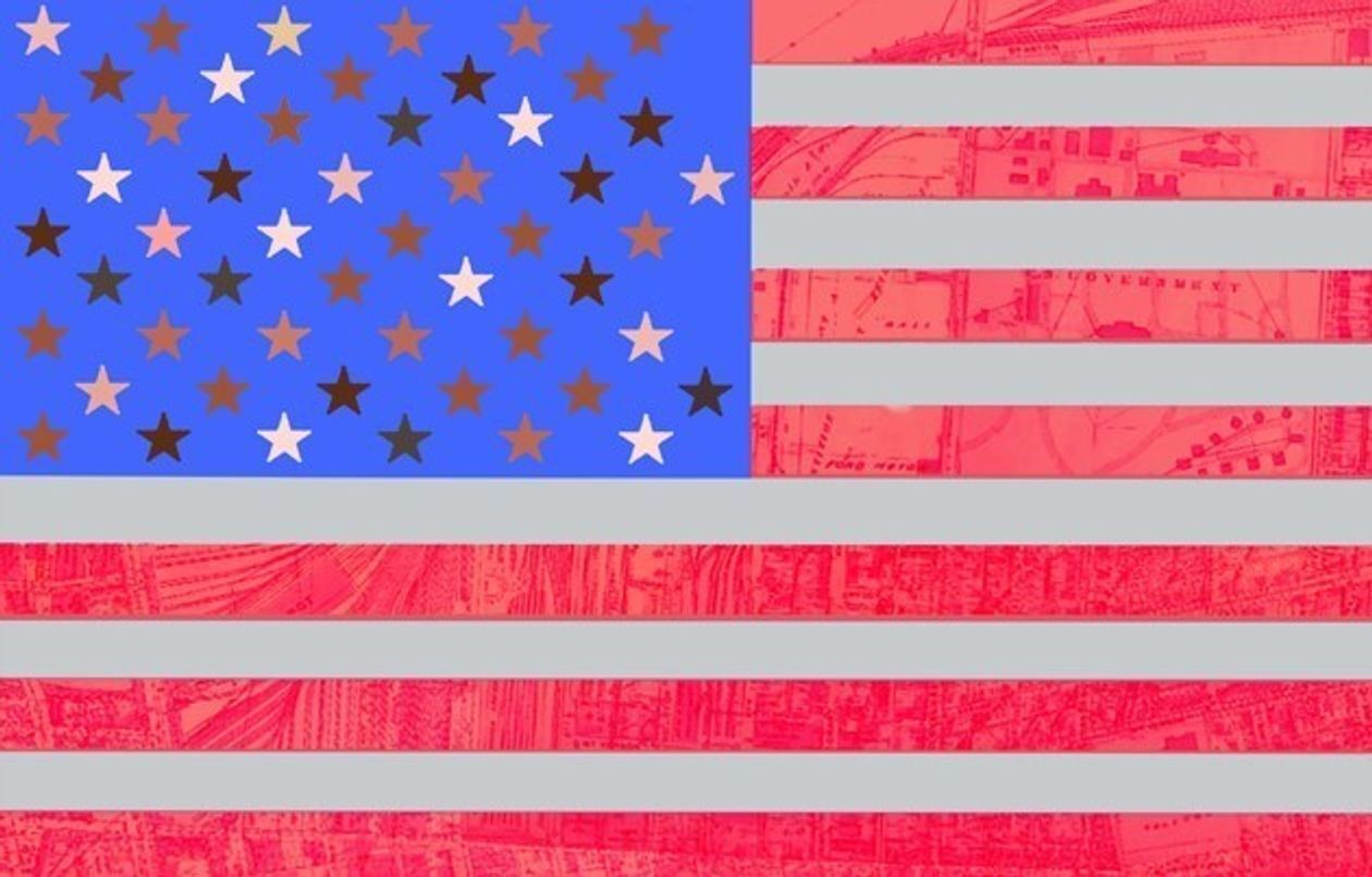 Macy Gray proposed American flag