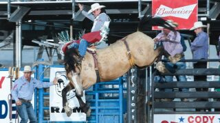 Back from injury, world champion Tim O'Connell rocks Frontier Days with 89.5