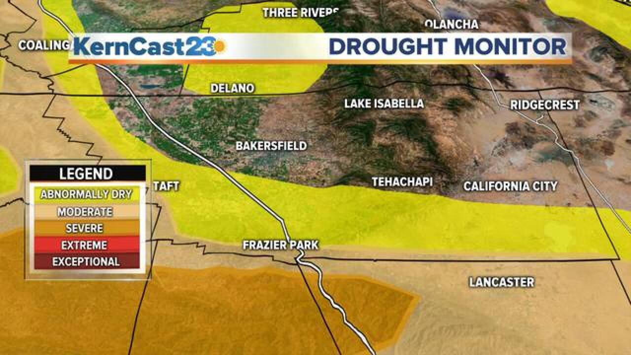 Most of Kern County now out of the drought