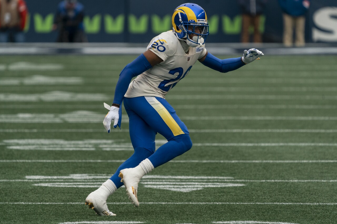 Los Angeles Rams cornerback Jalen Ramsey in 2020