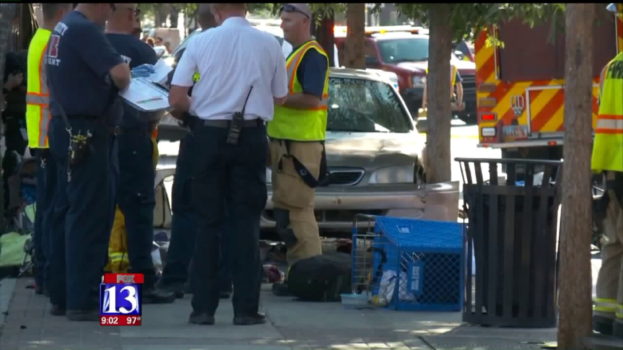 Driver goes off the road killing one and injuring five in a hit and run in Salt LakeCity