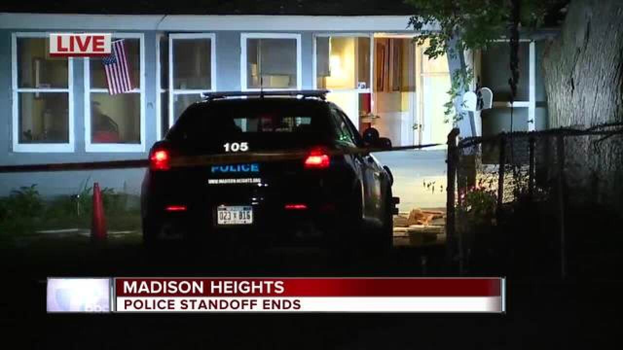Tear gas used during standoff in Madison Heights
