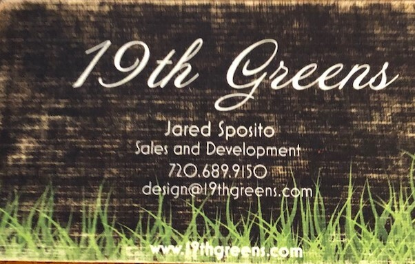 19th Greens Business Card