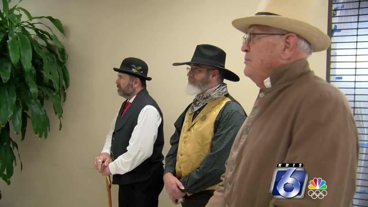 """Re-enactors at Monday's """"A Toast to Texas"""""""