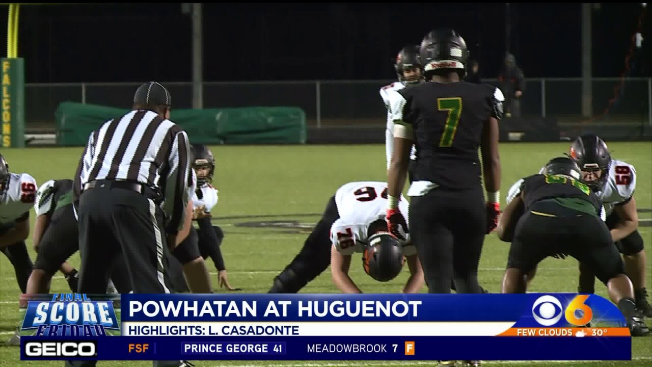 Huguenot advances to playoffs with a 20-14 win over Powhatan