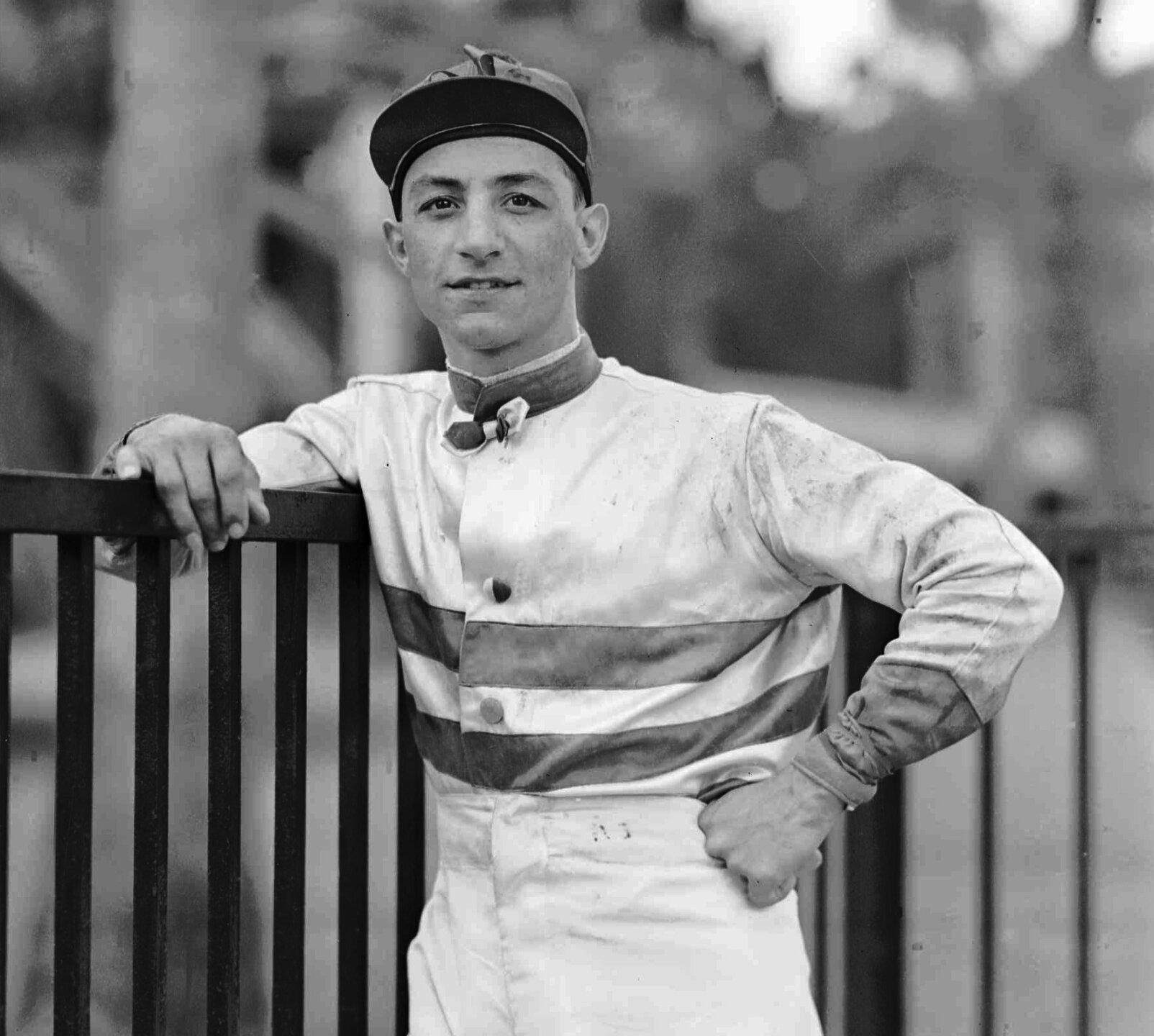 JOCKEY EDDIE ARCARO RACING SILKS MARCH 4, 1942 HIALEAH PARK