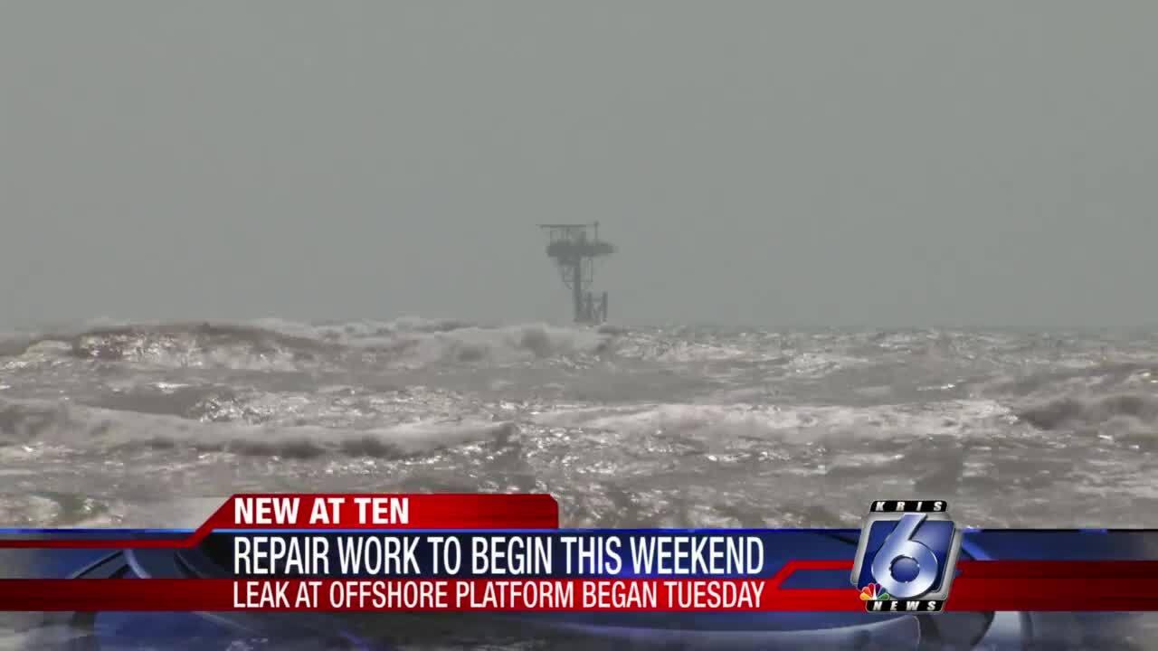 Work will begin this weekend on Padre Island offshore platform