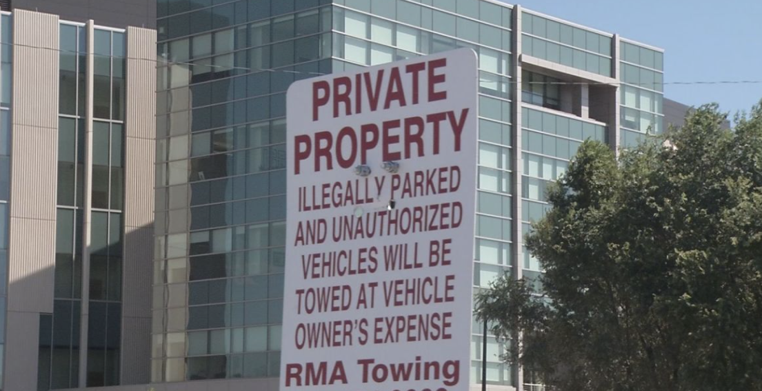 RMA Towing Sign
