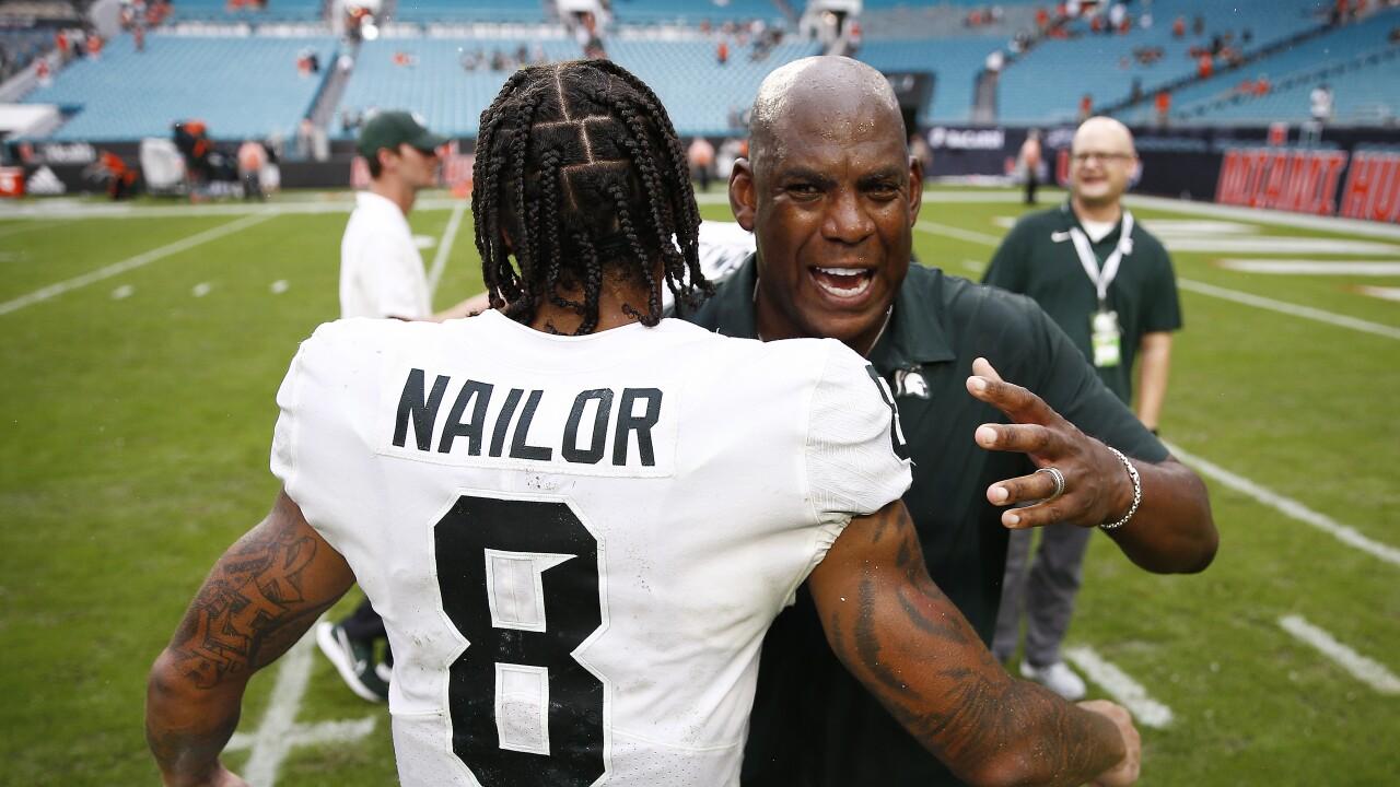 Mel Tucker Jalen Nailor Michigan St Miami Football