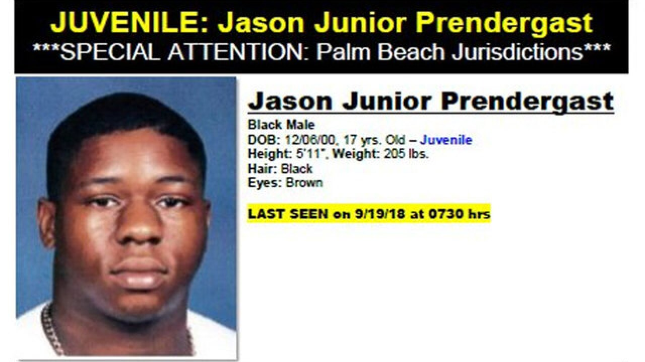 Port St. Lucie police looking to locate missing and endangered teen, Jason Junior Prendergast