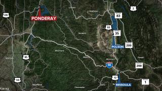Ponderay Idaho fatal map