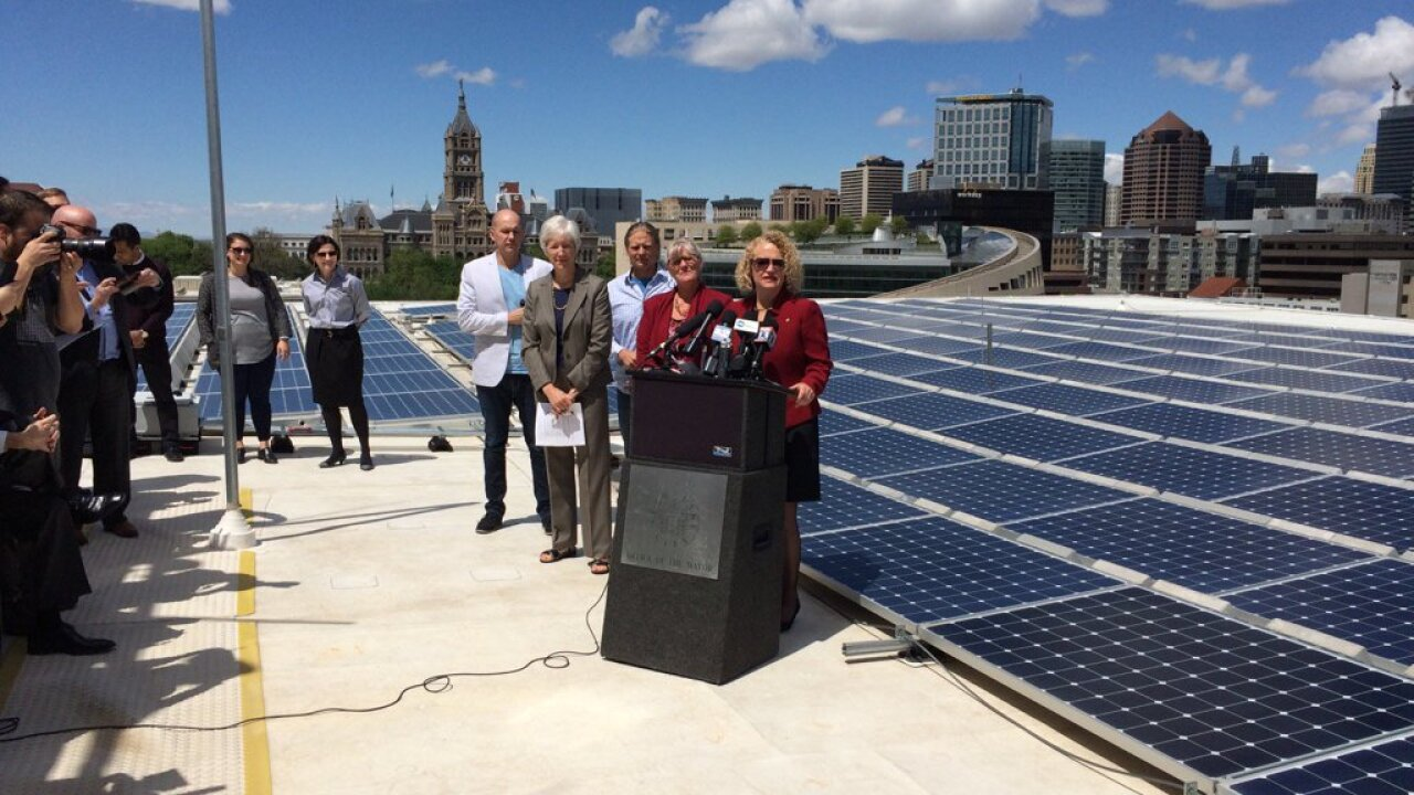 SLC mayor wants city running on clean energy by 2032