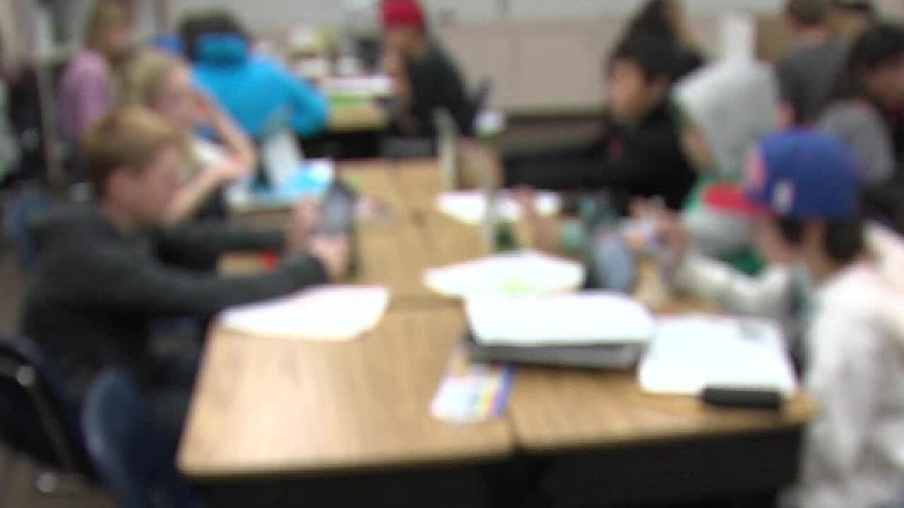 school classroom blur