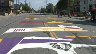 BLM mural celebration