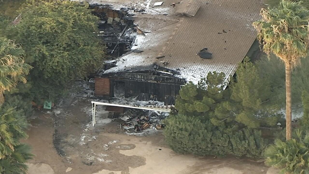 Historic farm house burns at Schnepf Farms