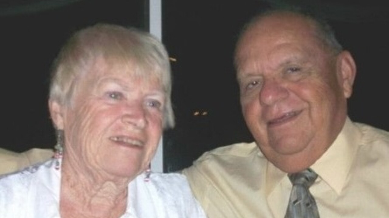 Eugene Contreras with his wife of 56 years