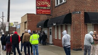 Slyman's on St. Patrick's Day, March 17, 2020.