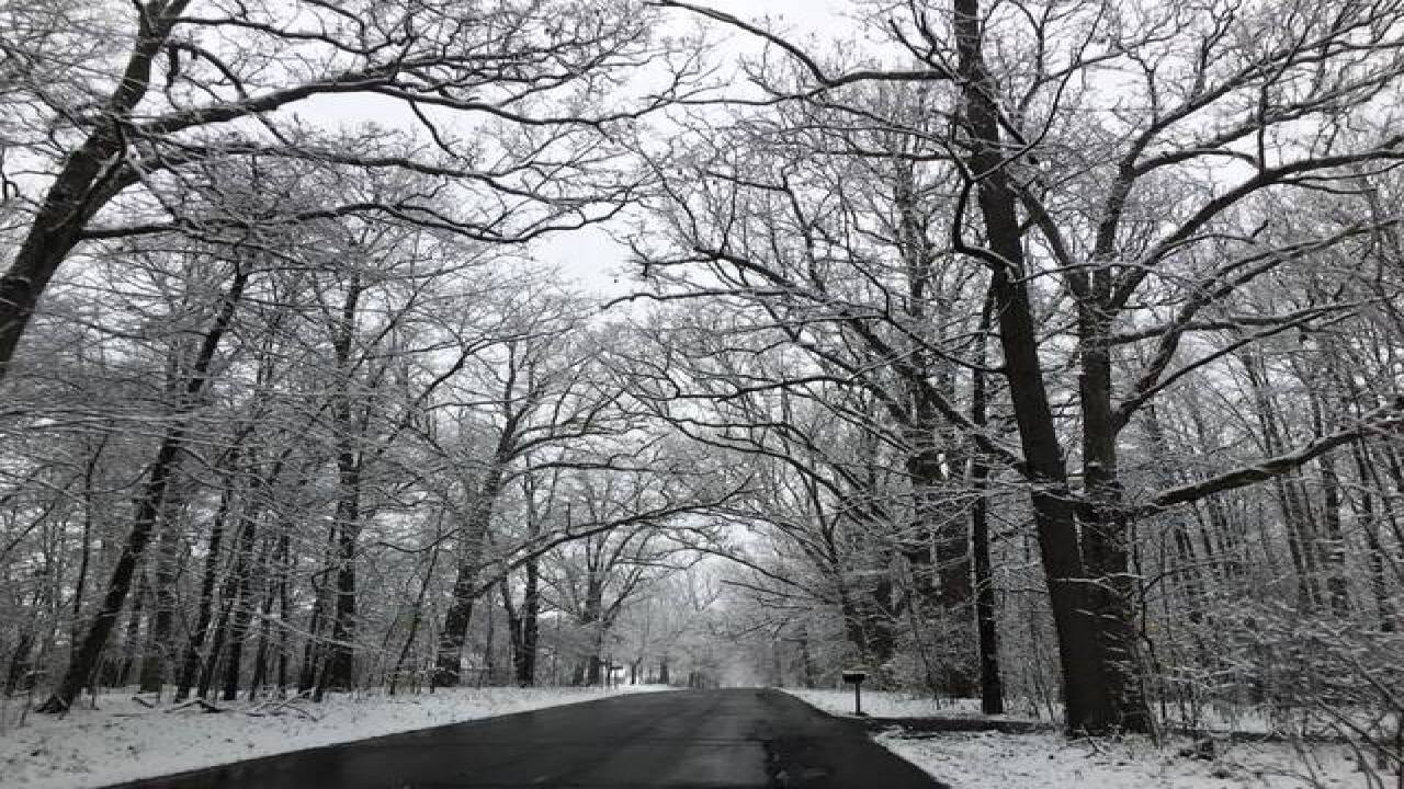 First snow in Mid-Michigan