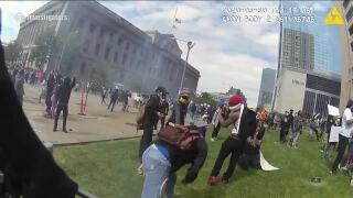 Protester video