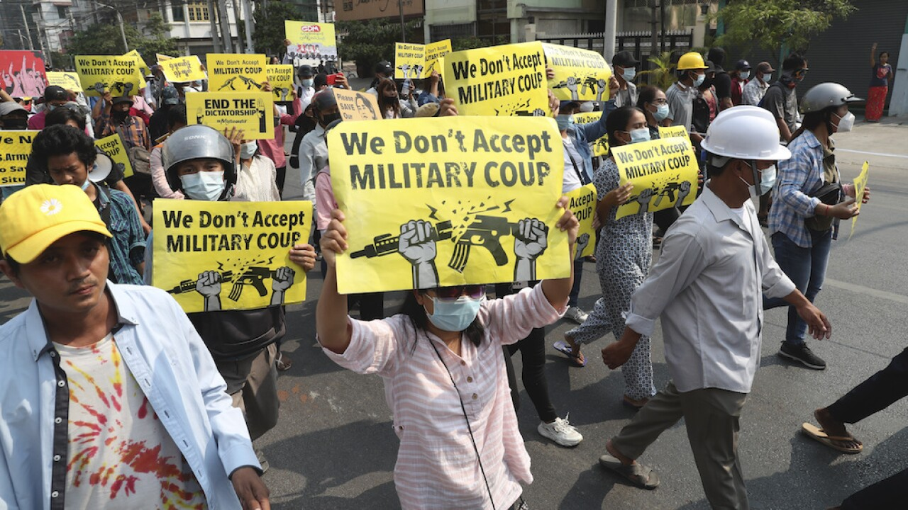 Myanmar coup martial law