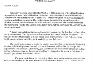 """Hill County Sheriff: beware of bogus """"officers"""""""