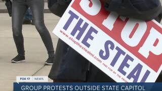 Group protests outside Capitol