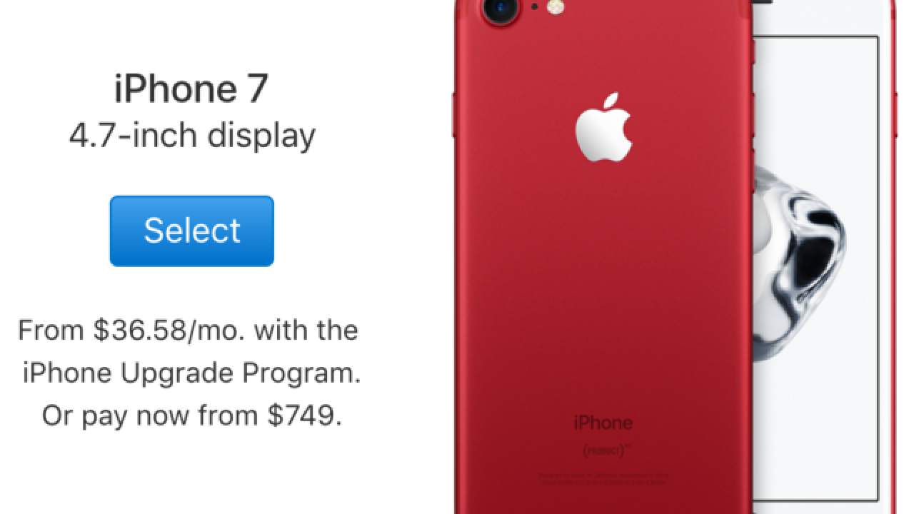 See Apple's new special-edition red iPhone 7