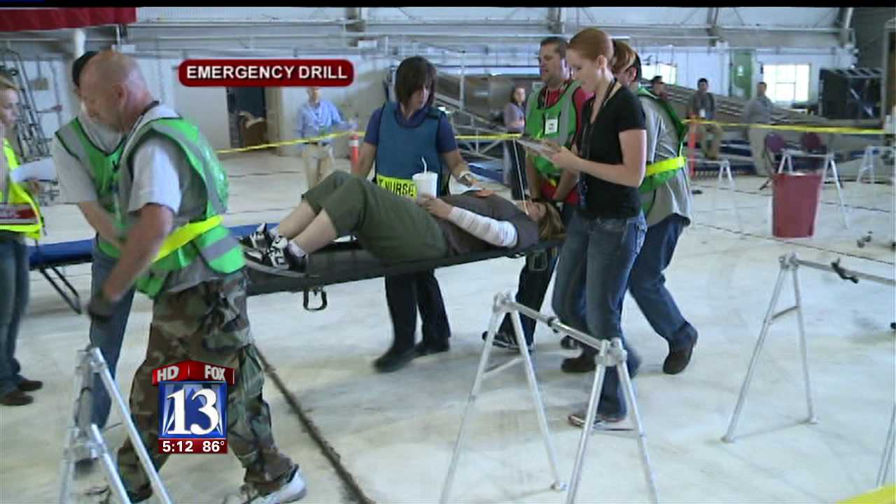 Medical teams coordinate with fed agency in mass casualty drill