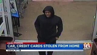 Crime Stoppers: Car, Credit Cards Stolen From Home