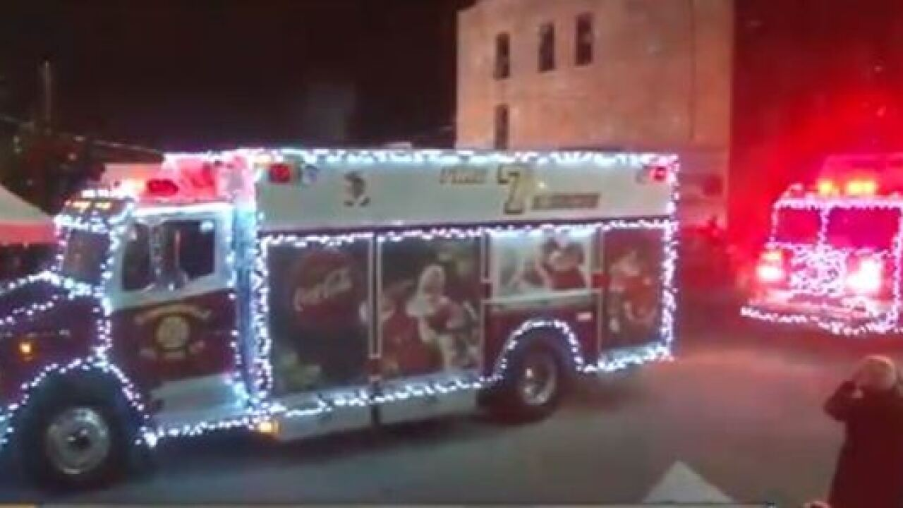 Over 150 emergency vehicles flashing Christmas spirit will light up Lancaster Saturday