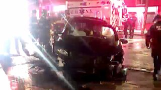Bronx stolen car crash