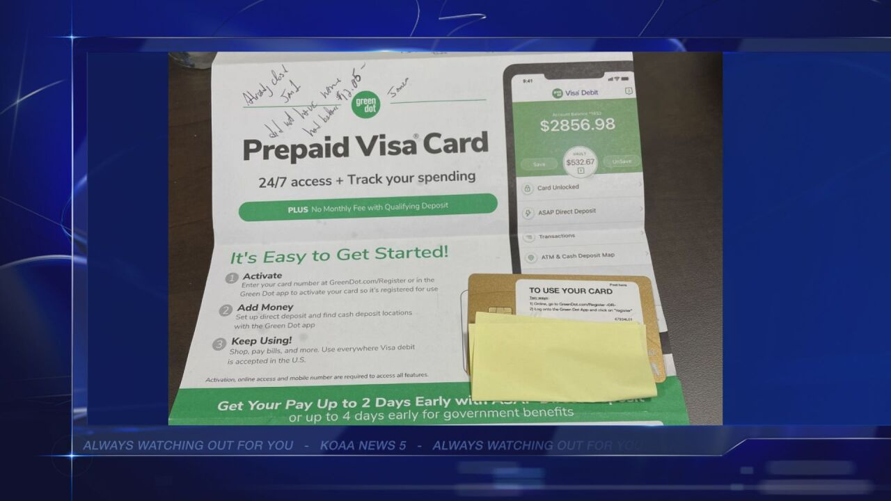 News5 viewer warns of Green Dot cards arriving in his name