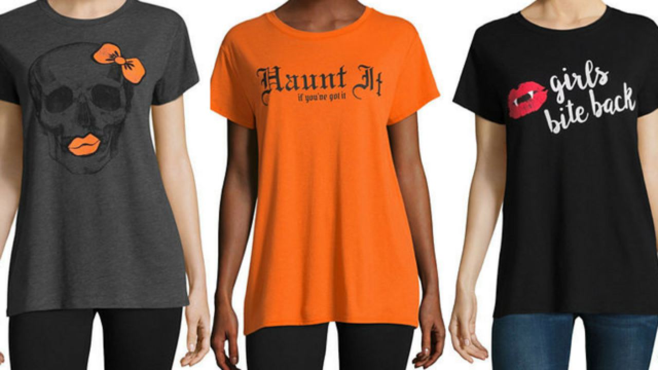 Halloween t-shirts are just $3.75 at JCPenney right now