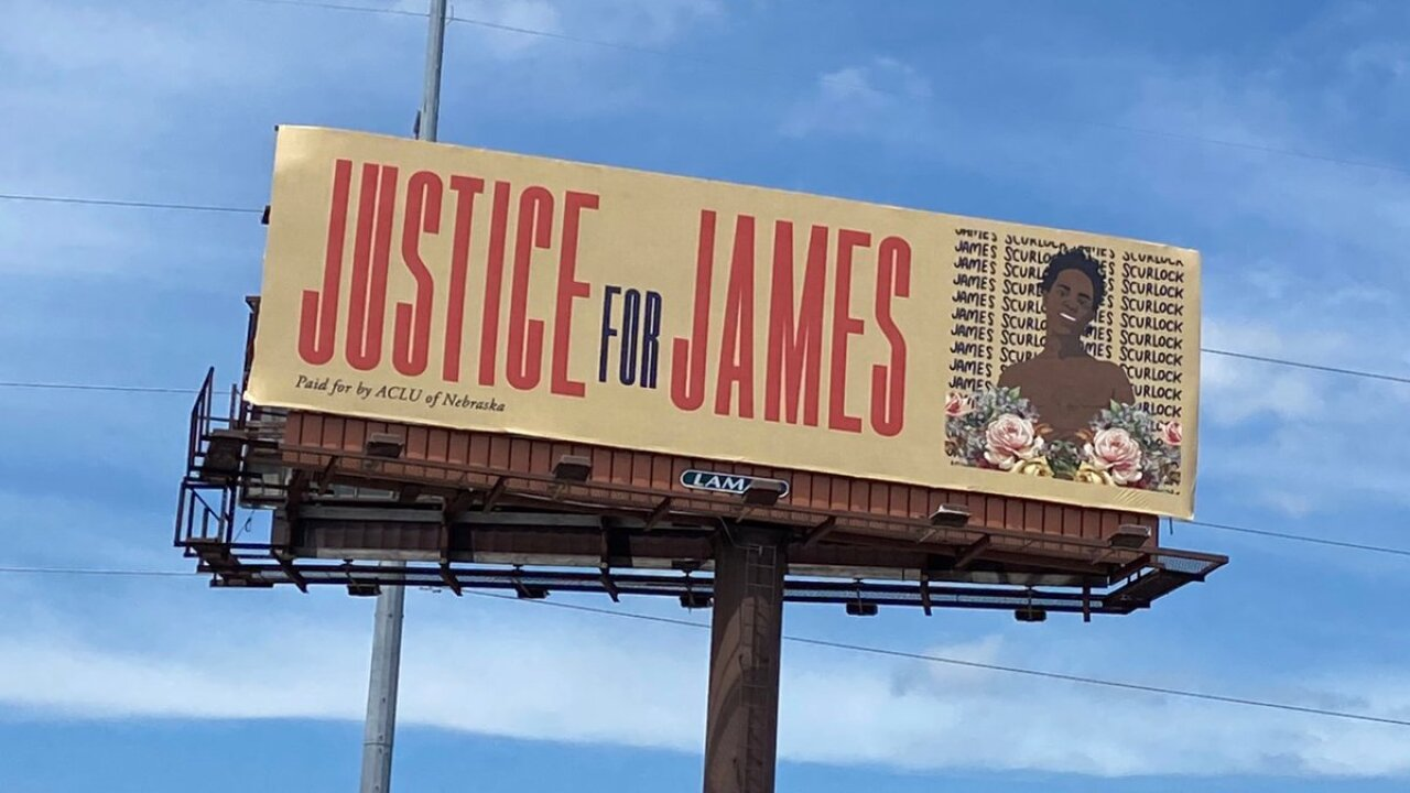 Justice for James billboard. Photo Credit: ACLU of Nebraska