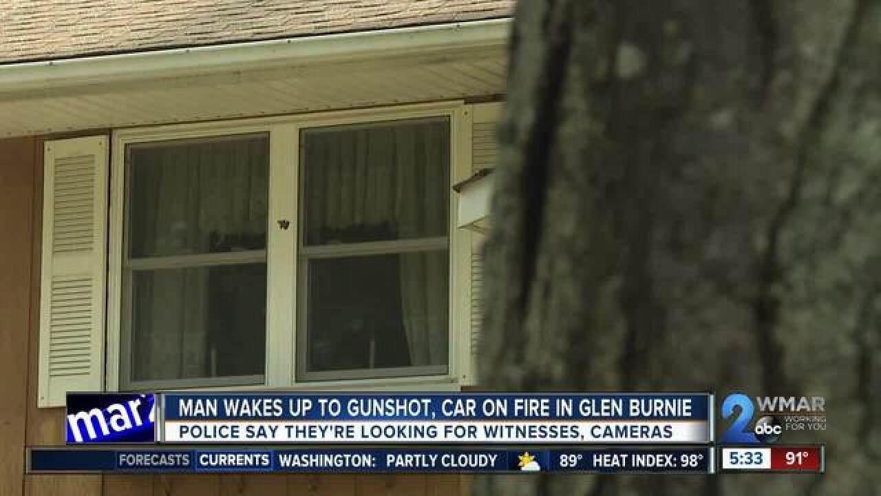 Car shot, set ablaze in Glen Burnie