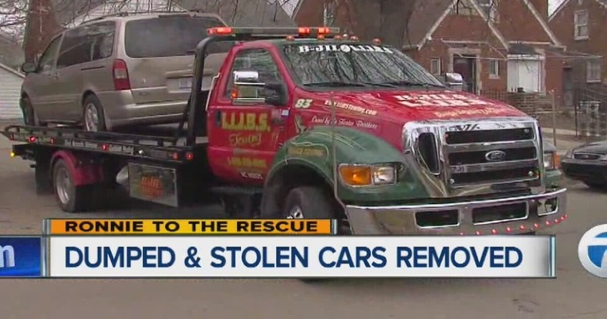 DPD tows away stolen cars dumped in Detroit