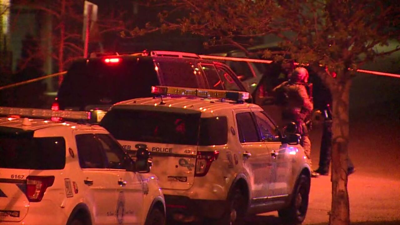 Denver Police search for shooting suspect in area of west 28th Avenue and Bryant Street.