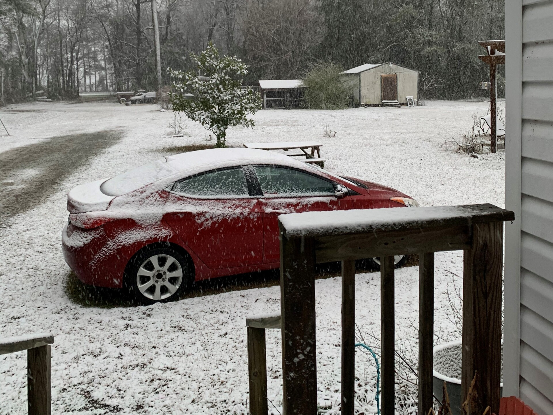 Snow In Belvidere NC from viewer Kennedy M.