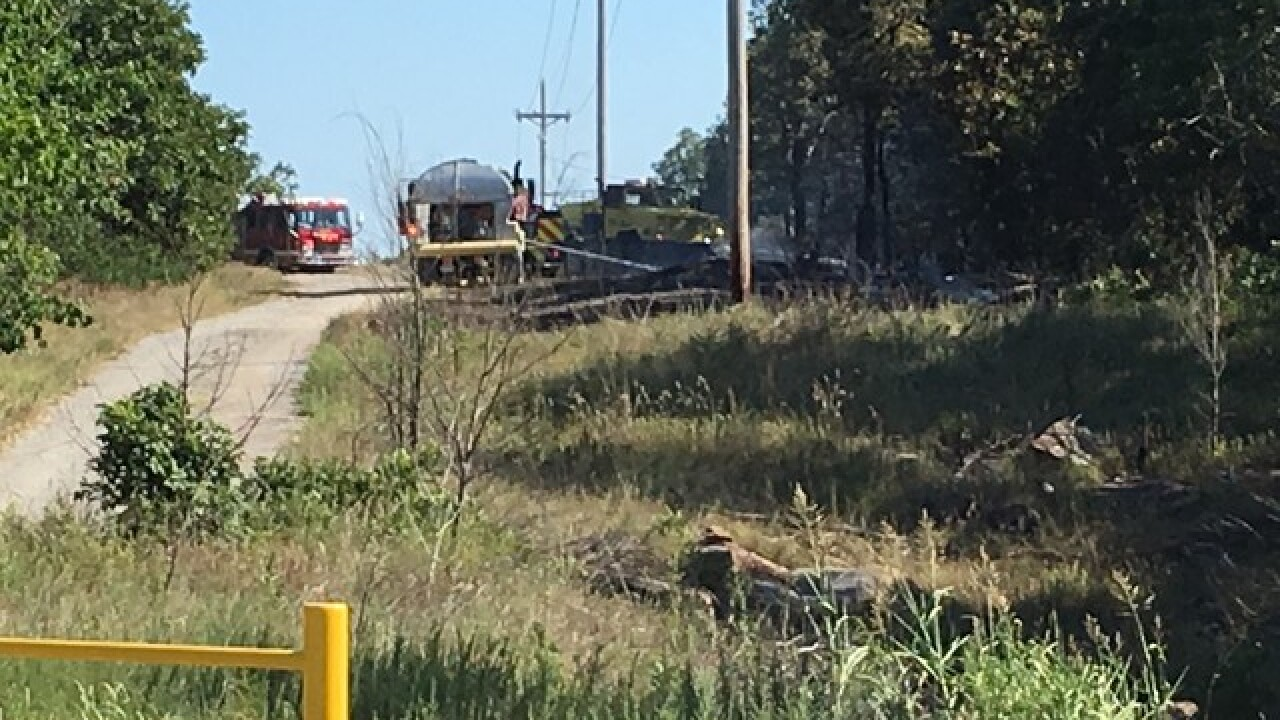 Multiple crews respond to grass fire in Turley