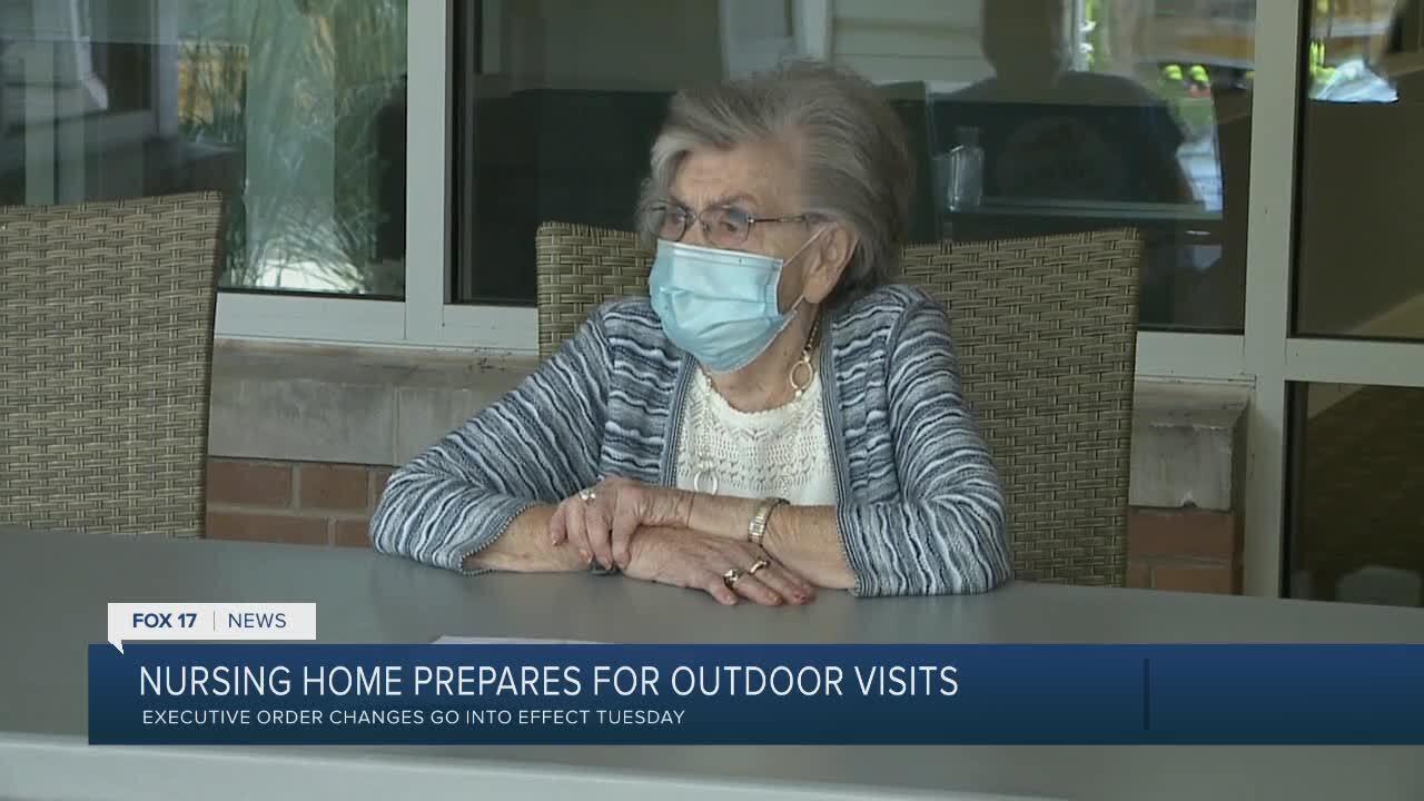Nursing homes open for outdoor visits