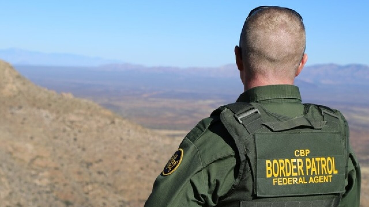 arizona group border patrol agents have emptied water bottles left
