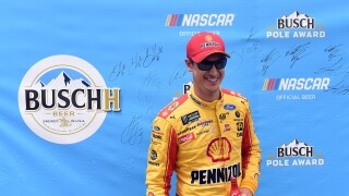 Joey_Logano_Monster Energy NASCAR Cup Series FireKeepers Casino 400 - Qualifying
