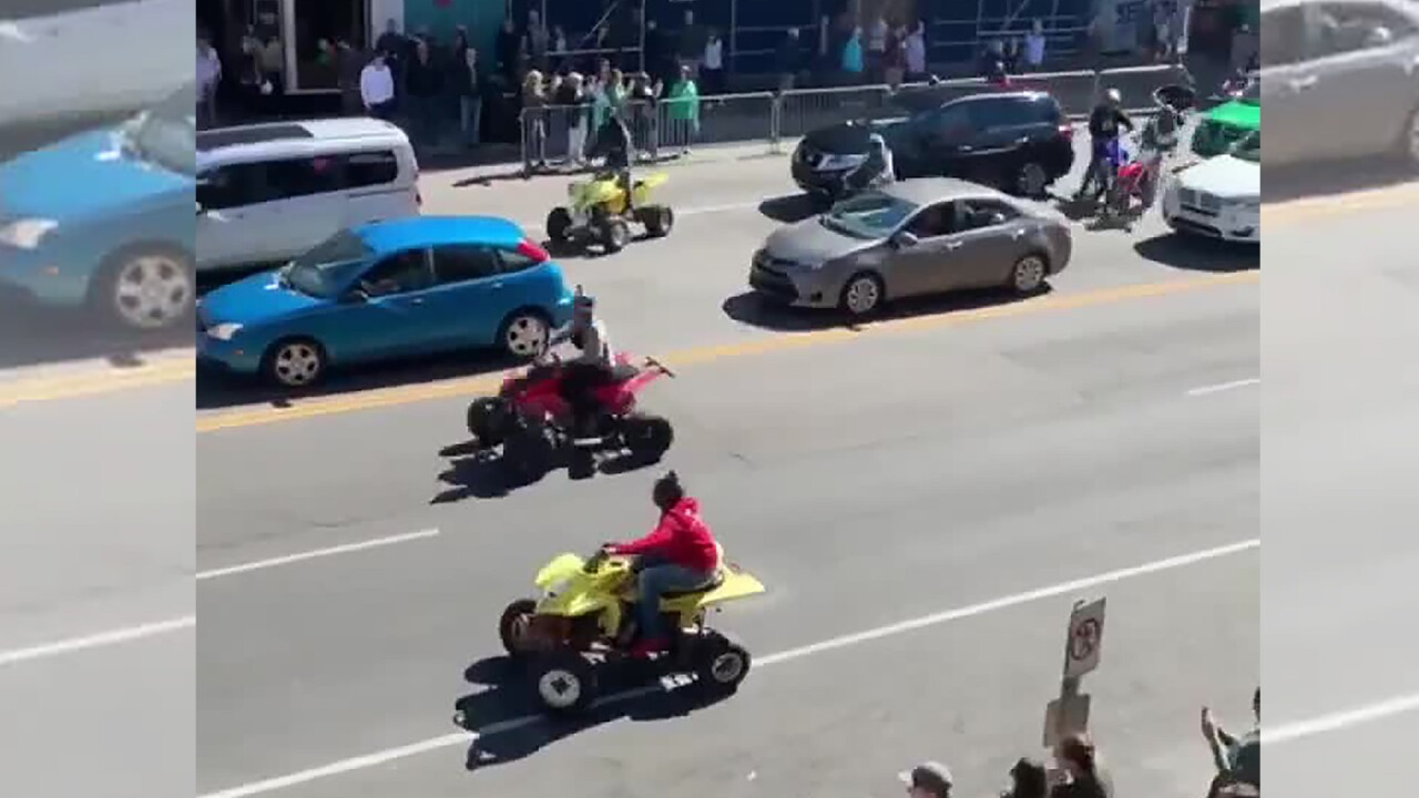 ATVs run amok in Nashville for the second day in a row